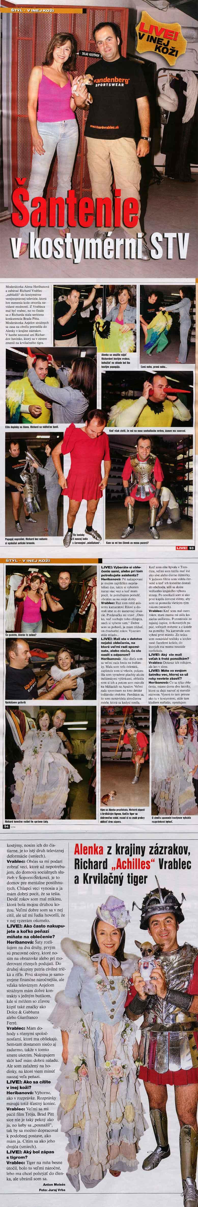 Magazín LIVE!, jún 2004: Šantenie v kostymérni STV